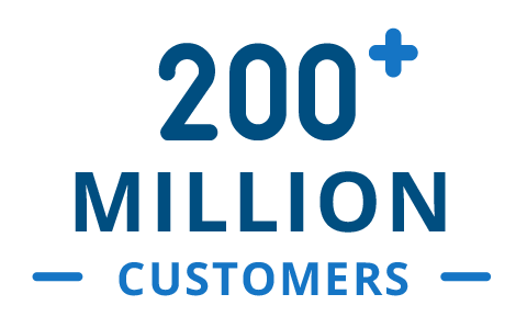200+ Million Customers